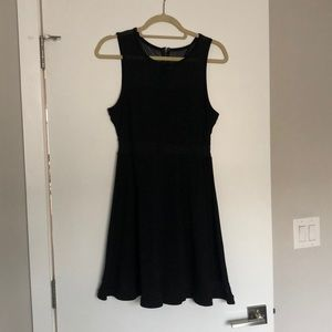 BLACK stretchy black medium dress
